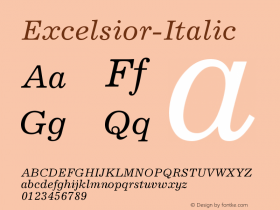 Excelsior-Italic