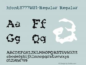 kfontZ777-Regular