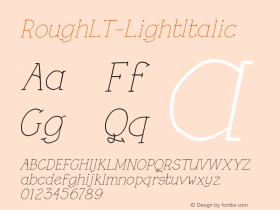 RoughLT-LightItalic