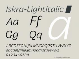 Iskra-LightItalic
