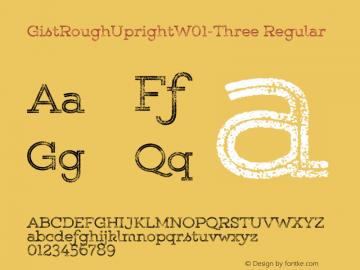 GistRoughUpright-Three