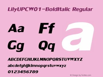 LilyUPC-BoldItalic