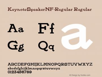 KeynoteSpeakerNF-Regular