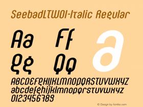 SeebadLT-Italic