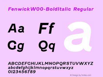 Fenwick-BoldItalic