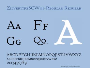 ZilvertypeSC-Regular