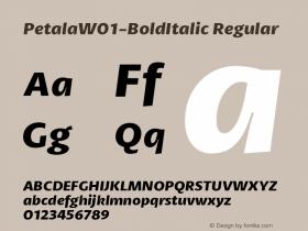 Petala-BoldItalic