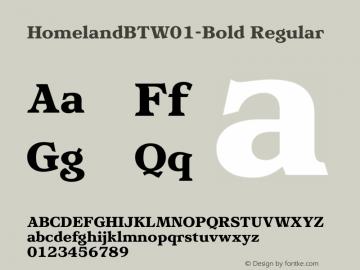 HomelandBT-Bold