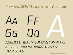 RopaSansSC-LightItalic
