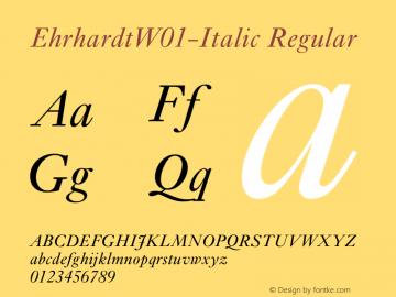 Ehrhardt-Italic
