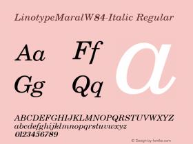 LinotypeMaral-Italic