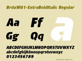 Brda-ExtraBoldItalic