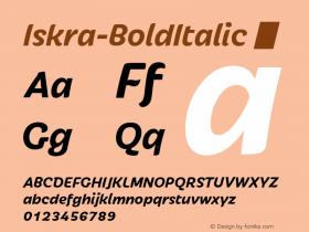 Iskra-BoldItalic