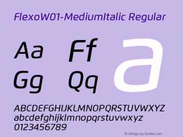 Flexo-MediumItalic