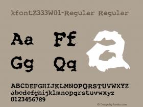 kfontZ333-Regular