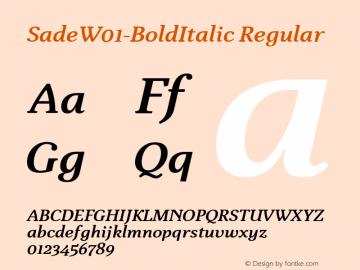 Sade-BoldItalic