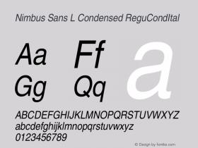 Nimbus Sans L Condensed