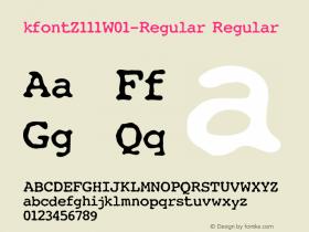 kfontZ111-Regular