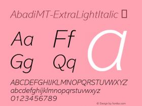 AbadiMT-ExtraLightItalic
