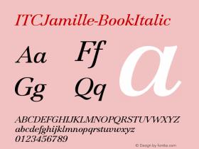 ITCJamille-BookItalic