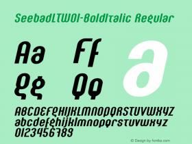 SeebadLT-BoldItalic