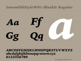 IowanOldStyle-BlackIt