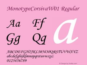 MonotypeCorsiva