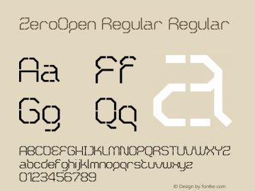 ZeroOpen Regular