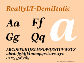 ReallyLT-DemiItalic