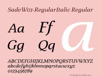 Sade-RegularItalic