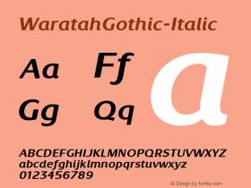WaratahGothic-Italic