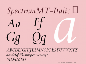 SpectrumMT-Italic