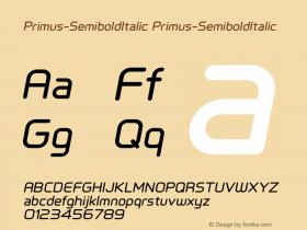 Primus-SemiboldItalic