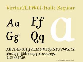 Varius2LT-Italic