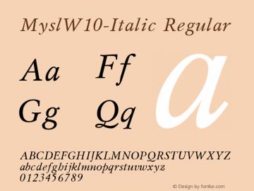 Mysl-Italic