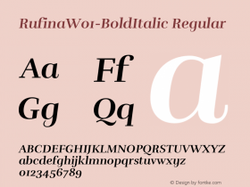 Rufina-BoldItalic