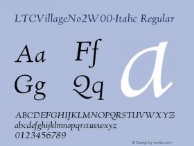 LTCVillageNo2-Italic