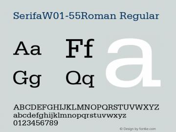 Serifa-55Roman
