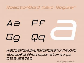 ReactionBold Italic