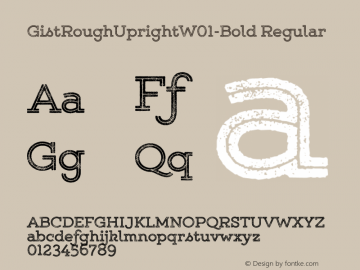 GistRoughUpright-Bold