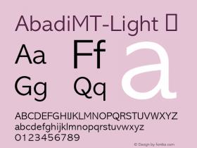 AbadiMT-Light