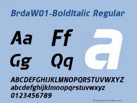 Brda-BoldItalic