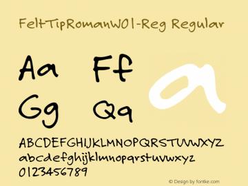 FeltTipRoman-Reg