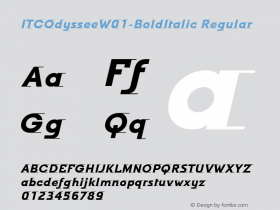 ITCOdyssee-BoldItalic