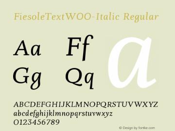 FiesoleText-Italic