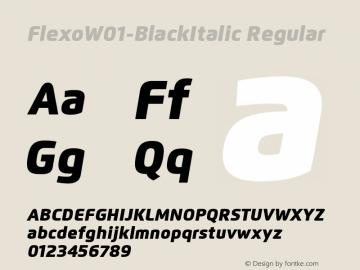 Flexo-BlackItalic