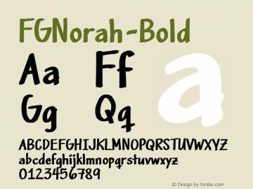 FGNorah-Bold