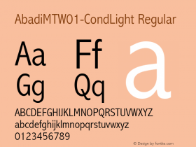 AbadiMT-CondLight