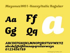 Mayonez-HeavyItalic