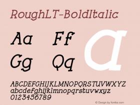 RoughLT-BoldItalic